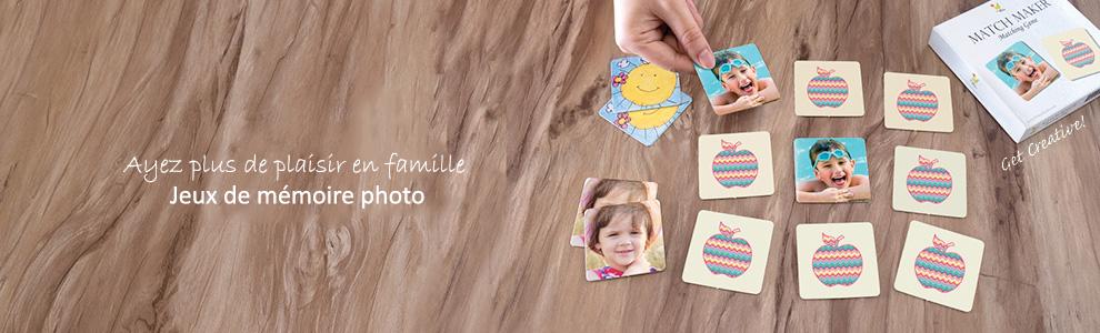 Jeux de correspondances de mémoire photo