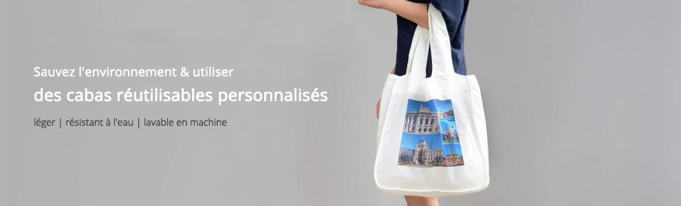 Cabas shopping réutilisable personnalisé