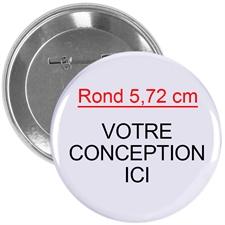 Pin bouton personnalisé impression en couleur, rond 57mm