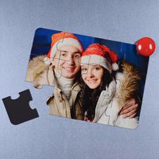 Invitation puzzle magnétique Joyeux Noël 12,7 x 17,78 cm