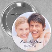 Pin bouton personnalisé photo de mariage, rond 57mm