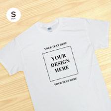 Petit t-shirt blanc personnalisé image carrée deux messages