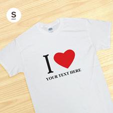 T-shirt personnalisé blanc J'aime adulte petit
