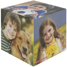 Cube photo en bois personnalisé, 5 panneaux