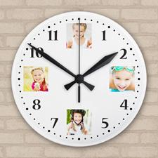 Horloge acrylique collage souvenirs précieux impression personnalisée