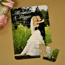 Puzzle personnalisé annonce de mariage lien éternel