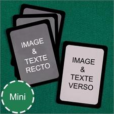 Cartes à jouer format mini personnalisées (cartes vierges) bordure noire