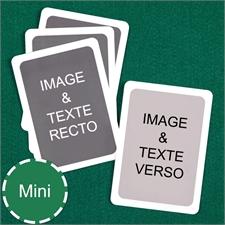 Cartes à jouer format mini personnalisées (cartes vierges) bordure blanche