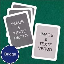 Cartes à jouer format Bridge personnalisées (cartes vierges) bordure blanche