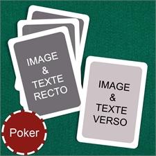 Cartes à jouer poker personnalisées (cartes vierges) bordure blanche