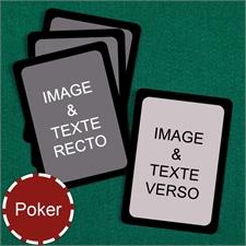 Cartes à jouer poker personnalisées (cartes vierges) bordure noire