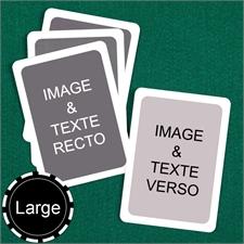 Cartes personnalisées format large (cartes vierges) bordure blanche