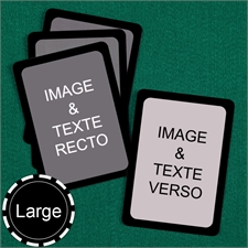 Cartes personnalisées format large (cartes vierges) bordure noire