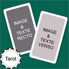 Cartes format Tarot personnalisées (cartes vierges) bordure blanche