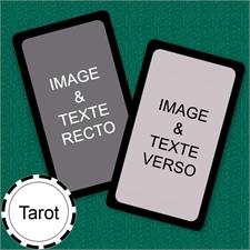 Cartes format Tarot personnalisées (cartes vierges) bordure noire