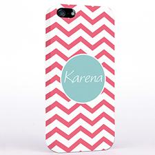 Personalized Carol Chevron iPhone Case