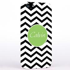 Personalized Black Chevron iPhone Case