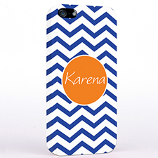 Personalized Navy Blue Chevron iPhone Case