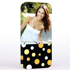 Personalized Glamorous Polka Dots Photo iPhone 5 iPhone Case