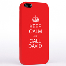 Personalized Red Keep Calm iPhone Case