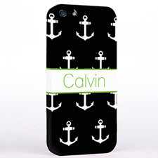 Personalized Black And White Cute Anchors iPhone Case