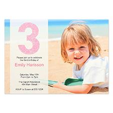 Carte d'invitation personnalisée fille s'amuse