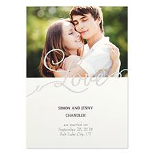 Carte d'invitation personnalisée fête d'amour