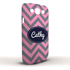 Design Your Own Grey & Carol Chevron Samsung Phone Case Cover