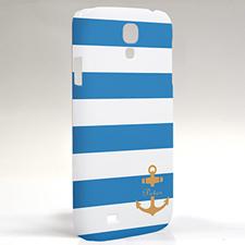 Custom Design Blue Stripe Orange Anchor Samsung Phone Case