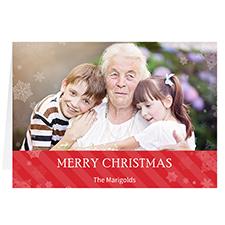Carte de voeux de Noël rouge personnalisée Qu'il neige