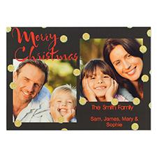 Carte d'invitation de fête personnalisée joyeux Noël paillettes