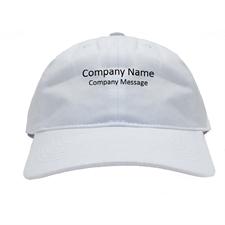 Casquette de baseball blanche impression personnalisée nom d'entreprise