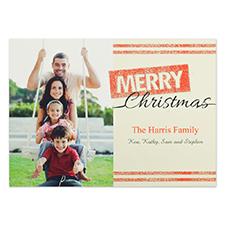 Cartes d'invitation personnalisées Joyeux Noël paillettes