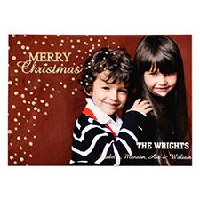 Cartes d'invitation carte photo personnalisées Joyeux Noël doré paillettes
