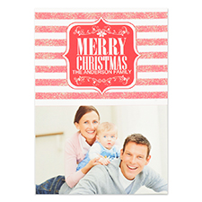 Carte d'invitation personnalisée Joyeux Noël brillance