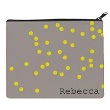 Print Your Own Yellow Natural Polka Dots Bag (8 X 10 Inch)