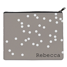 Print Your Own White Natural Polka Dots Bag (8 X 10 Inch)