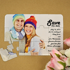 Invitation puzzle personnalisée amour éternel Réservez la date