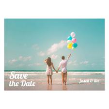 Annonces de mariage photo complète personnalisées, carte papeterie 12,7 x 17,78 cm