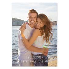 Annonces de mariage photo complète personnalisées, carte papeterie portrait 12,7 x 17,78 cm