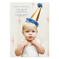 Invitations d'anniversaire photo complète personnalisées, carte papeterie portrait 12,7 x 17,78 cm