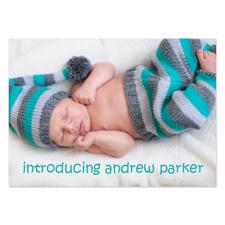 Annonces de naissance photo complète personnalisées, carte papeterie 12,7 x 17,78 cm