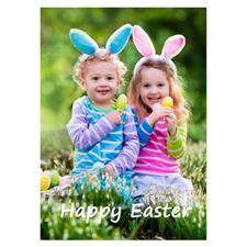 Invitations de Pâques photo complète personnalisées, carte papeterie portrait 12,7 x 17,78 cm