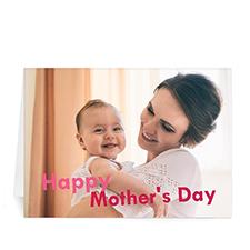 Cartes de voeux pliées  personnalisées 12,7 x 17,78 cm, Joyeuse fête des mères