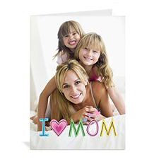 Cartes de voeux photo personnalisées, pliées portrait 12,7 x 17,78 cm