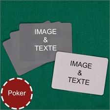 Cartes à jouer poker personnalisées paysage (cartes vierges)