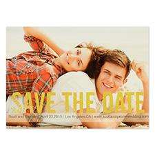 Cartes d'invitation réservez la date personnalisées paillettes dorées