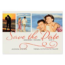 Cartes d'invitation personnalisées réservez la date jour de mariage