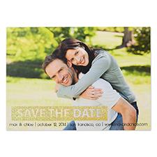 Cartes d'invitation photo réservez la date personnalisées paillettes dorées jour simple personnalisé