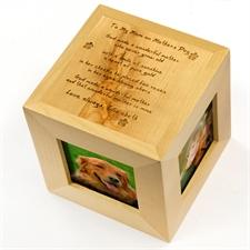 Cube photo en bois gravé à ma mère